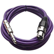 SATRXL-F10 - Purple 10' XLR Female to TRS Patch Cable