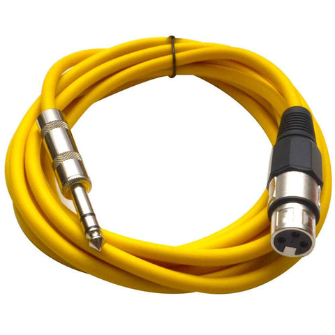SATRXL-F10 - Yellow 10' XLR Female to TRS Patch Cable