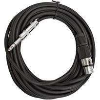 SATRXL-F25 - Black 25' XLR Female to TRS Patch Cable
