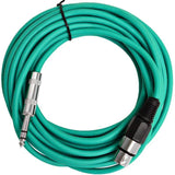 SATRXL-F25 - Green 25' XLR Female to TRS Patch Cable