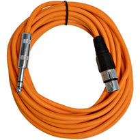 SATRXL-F25 - Orange 25' XLR Female to TRS Patch Cable