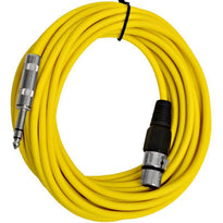 SATRXL-F25 - Yellow 25' XLR Female to TRS Patch Cable