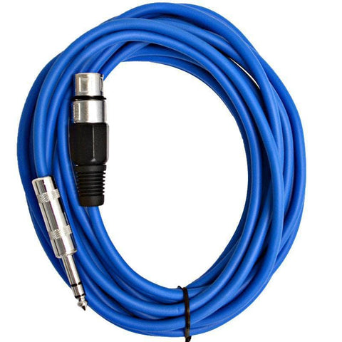 SATRXL-F25 - Blue 25' XLR Female to TRS Patch Cable