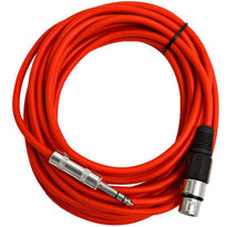 SATRXL-F25 - Red 25' XLR Female to TRS Patch Cable