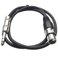 SATRXL-F2 - Black 2' XLR Female to TRS Patch Cable