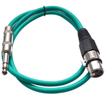 SATRXL-F2 - Green 2' XLR Female to TRS Patch Cable