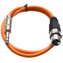 SATRXL-F3 - Orange 3' XLR Female to TRS Patch Cable