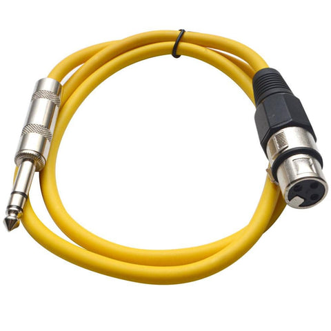 SATRXL-F3 - Yellow 3' XLR Female to TRS Patch Cable