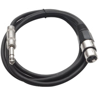 SATRXL-F6 - Black 6' XLR Female to TRS Patch Cable