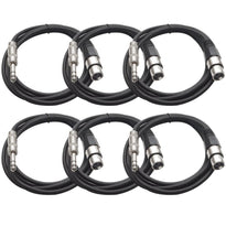 SATRXL-F6 - 6 Pack of Black 6' XLR Female to TRS Patch Cables
