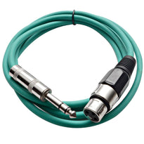 SATRXL-F6 - Green 6' XLR Female to TRS Patch Cable