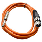 SATRXL-F6 - Orange 6' XLR Female to TRS Patch Cable