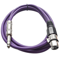 SATRXL-F6 - Purple 6' XLR Female to TRS Patch Cable