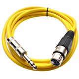 SATRXL-F6 - Yellow 6' XLR Female to TRS Patch Cable