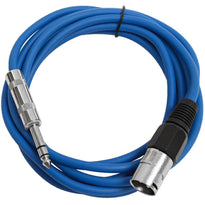 SATRXL-M10 - Blue 10 Foot XLR Male to TRS Patch Cable