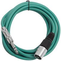 SATRXL-M10 - Green 10 Foot XLR Male to TRS Patch Cable