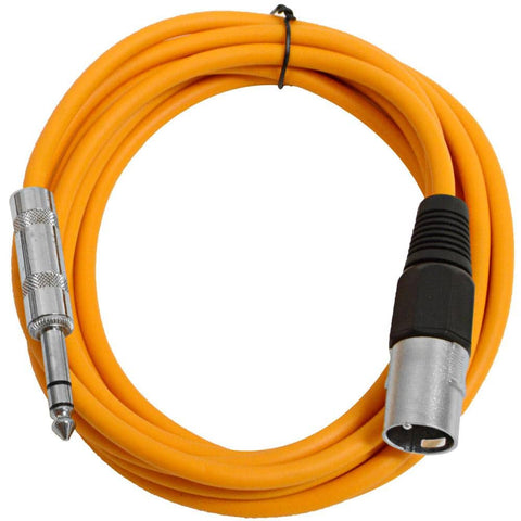 SATRXL-M10 - Orange 10 Foot XLR Male to TRS Patch Cable