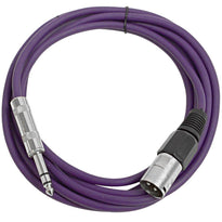 SATRXL-M10 - Purple 10 Foot XLR Male to TRS Patch Cable