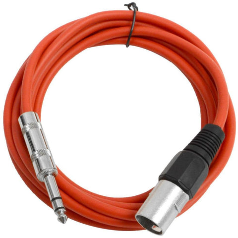 SATRXL-M10 - Red 10 Foot XLR Male to TRS Patch Cable