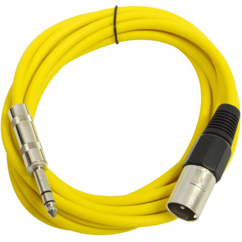 SATRXL-M10 - Yellow 10 Foot XLR Male to TRS Patch Cable