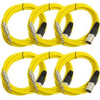 SATRXL-M10 - 6 Pack of Yellow 10 Foot XLR Male to TRS Patch Cables