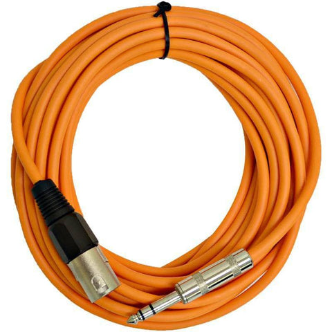 SATRXL-M25 - Orange 25 Foot XLR Male to TRS Patch Cable
