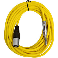 SATRXL-M25 - Yellow 25 Foot XLR Male to TRS Patch Cable