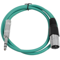 SATRXL-M2 - Green 2' XLR Male to TRS Patch Cable