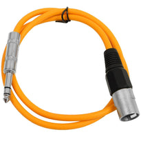 SATRXL-M3 - Orange 3' XLR Male to TRS Patch Cable