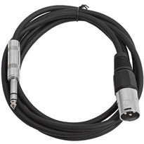 SATRXL-M6 - Black 6 Foot XLR Male to TRS Patch Cable