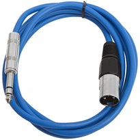 SATRXL-M6 - Blue 6 Foot XLR Male to TRS Patch Cable