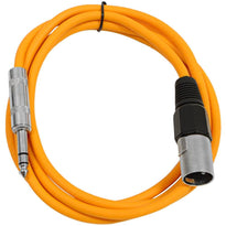 SATRXL-M6 - Orange 6 Foot XLR Male to TRS Patch Cable