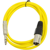 SATRXL-M6 - Yellow 6 Foot XLR Male to TRS Patch Cable