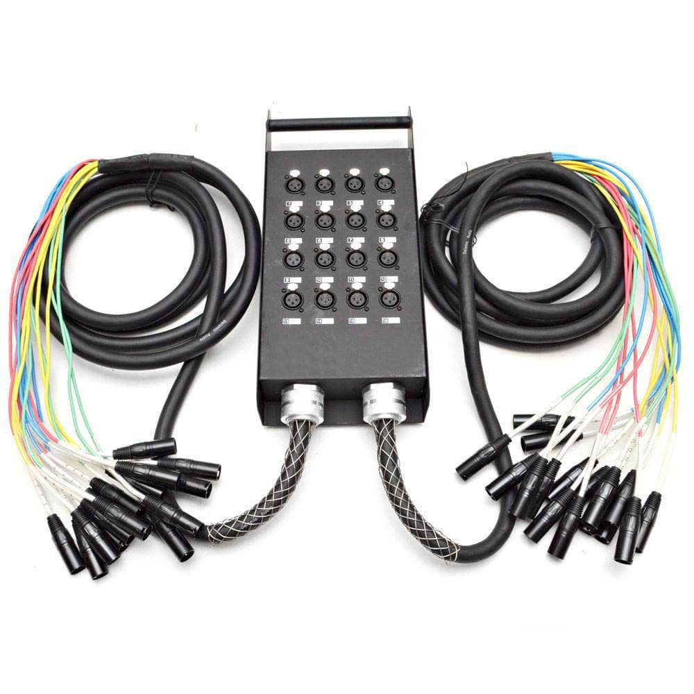 16 Channel Xlr Send Splitter Snake With Two 15 Fantail