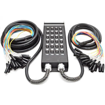 SATSS-24x1530 - 24 Channel Send XLR Splitter Snake Cable - 15 foot trunk and 30 foot trunk