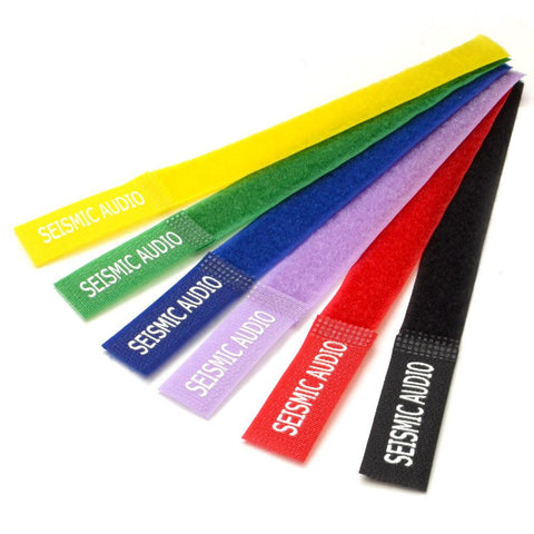 Seismic Audio Colored Cable Strap Ties - 8 Inches - (Pack of 6)