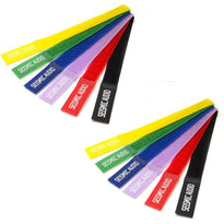 Two Pack of Seismic Audio Colored Cable Strap Ties - 8 Inches - (Pack of 6)