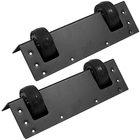 Pair of Dual Wheel Kits for PA Speaker Cabinets