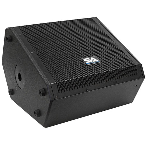 SAX-12M-PW - Powered Compact 12 Inch 2 Way Coaxial Floor / Stage Monitor with Titanium Horn