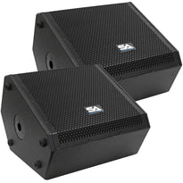 SAX-12M-PW - Pair of Powered Compact 12 Inch 2 Way Coaxial Floor / Stage Monitors with Titanium Horns