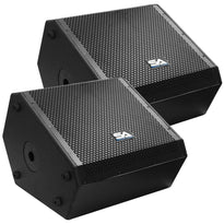 SAX-15M-PW - Pair of Powered Compact 15 Inch 2 Way Coaxial Floor / Stage Monitors with Titanium Horns