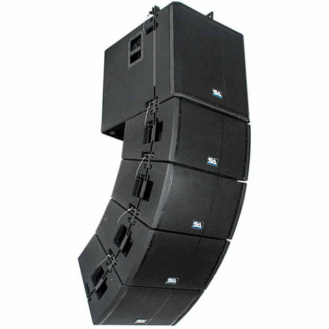 Powered Line Array System - 18 Inch Subwoofer, Four 12 Inch Line Array Speakers and Mounting Frame