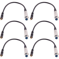 SAXLRC1 - 6 PACK XLR Female RCA Male 1' Patch Cable