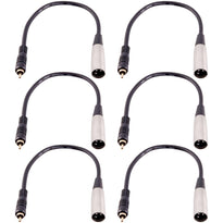 SAXLRC2 - 6 PACK XLR Male  RCA Male 1' Patch Cables