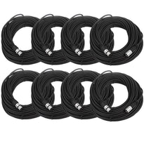SAXLX-100 - 8 Pack of Black 100 Foot XLR Microphone Cables