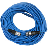 SAXLX-100 - 6 Pack of Blue 100 Foot XLR Microphone Cables