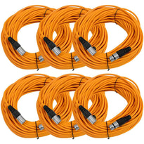 SAXLX-100 - 6 Pack of Orange 100 Foot XLR Microphone Cables