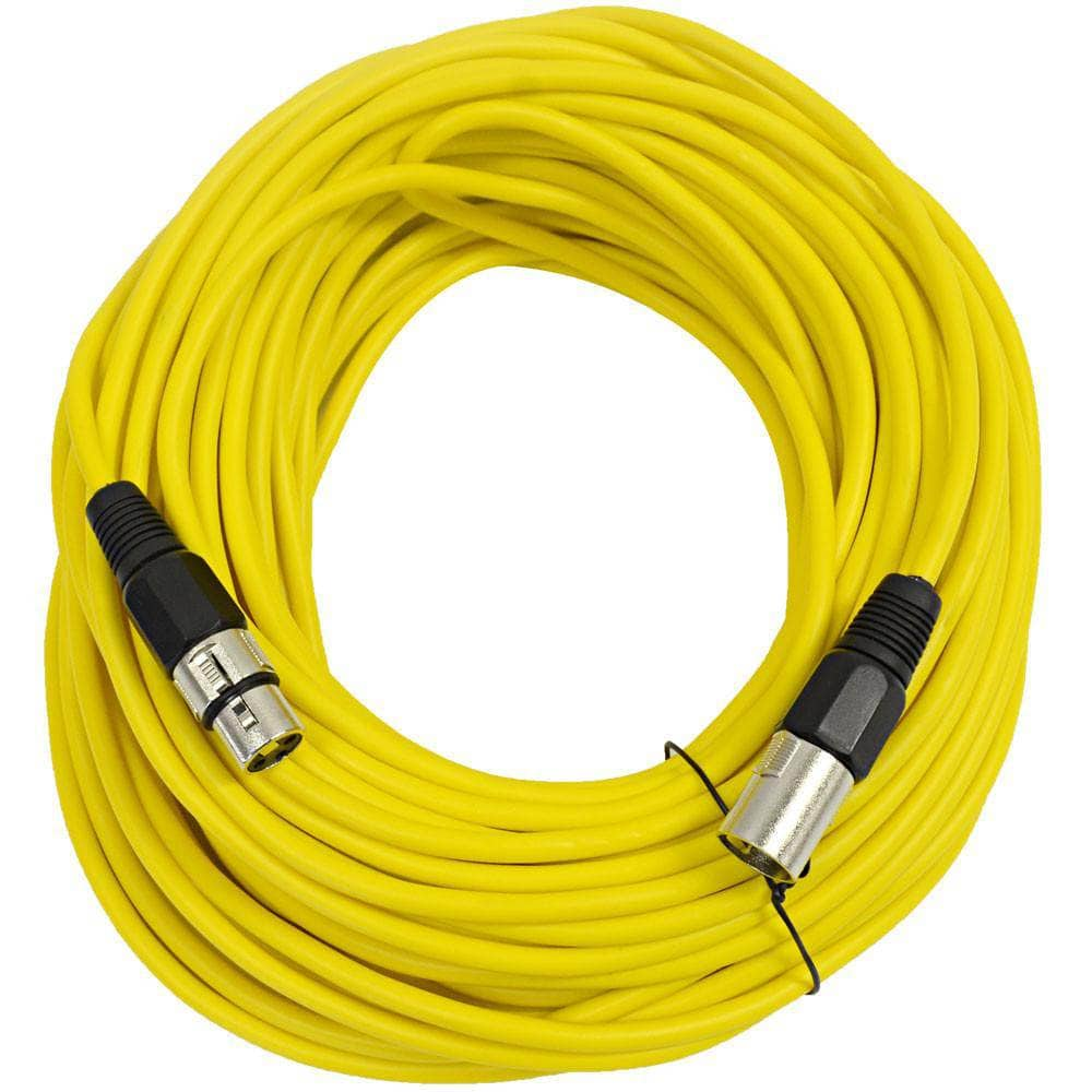 saxlx 100 yellow 100 foot xlr patch cable seismicaudio. Black Bedroom Furniture Sets. Home Design Ideas