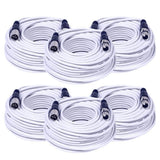SAXLX-100 - 6 Pack of White 100 Foot XLR Microphone Cables