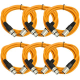SAXLX-10 - 6 Pack of Orange 10 Foot XLR Patch Cables